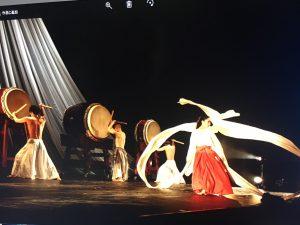 天女の羽衣と和太鼓の響演
